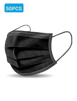 Disposable Face Mask 50 Pcs Pack - Black