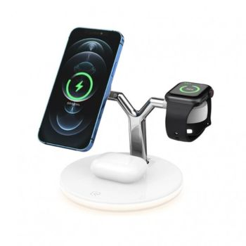 3 in 1 Wireless Charging Station Dock 25W - White