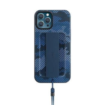 غطاء حماية هيلدرو دي لآيفون 12 برو ماكس - ازرق مموه من يونيك