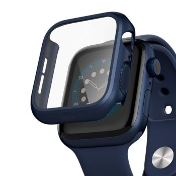 Anank Glass with Case For Apple Watch 44MM - Blue (652227)