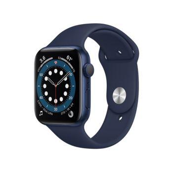 ساعة ابل الفئة السادسة جي بي اس 40 مم هيكل من الألمنيوم ازرق مع سوار رياضي - كحلي