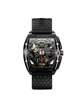 CIGA Design Z Series DLC Automatic Mechanical Skeleton Wristwatch Black (Z031-BLBL-15BK)