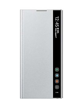 Samsung Clear View Cover for Galaxy Note10 - Silver