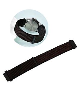Coteecl Magic Tape Watch Band 20mm&22mm For Samsung And Huawei Black (WH5270-BK)