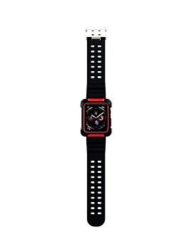 Coteetcl TPU and PC Material For iWatch 44mm Black with Red (WH5268-BR)