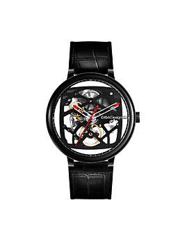 CIGA Design Fang Yuan Automatic Mechanical Skeleton Wristwatch Black (Z021-BLBL-1)