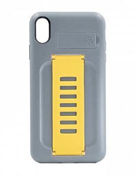 غطاء حماية جريب 2 يو بوست مع مسند خلفي لآيفون إكس إس ماكس - رمادي/ أصفر