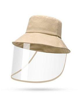 Hat With Face Sheild Beige