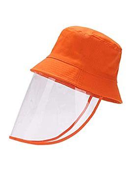 Hat With Face Sheild Orange