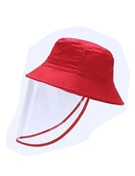 Hat With Face Sheild Red