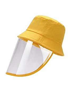 Hat With Face Sheild Yellow