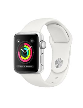 Apple Watch S3 38mm GPS Silver Aluminium Case with White Sport Band (MTEY2)