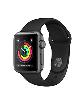 Apple Watch S3 38mm GPS Space Grey Aluminium Case with Black Sport Band (MTF02)