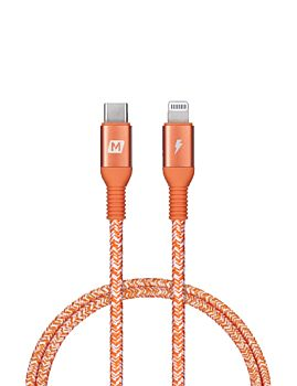 Momax Elite-Link Lightning to USB-C Charging Cable 0.3M Red (DL30M)