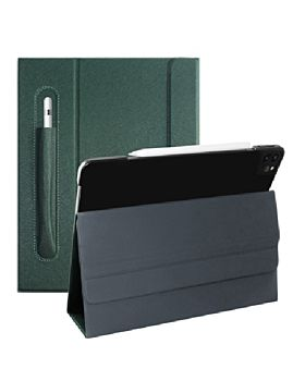 """Mutural Design Case For IPad Pro 12.9"""" With Pencil Case Green (MT-P-010504P 12.9 GR)"""