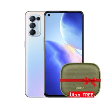 Oppo Reno 5 128GB 5G Silver - With Free Gift