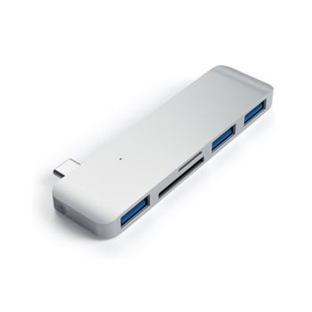 Satechi Aluminum Type-C USB 3.0 3-in-1 Combo Hub Adapter Silver (ST-TCUHS)