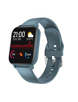 Smart Watch With Heart Rate & Body Temperature Blue (F25)