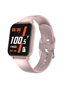 Smart Watch With Heart Rate & Body Temperature Pink (F25)