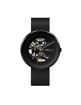 CIGA Design Stainless Edition Michael YoungSeries Automatic Mechanical Skeleton WristWatch Black (M021-BLBL-13)