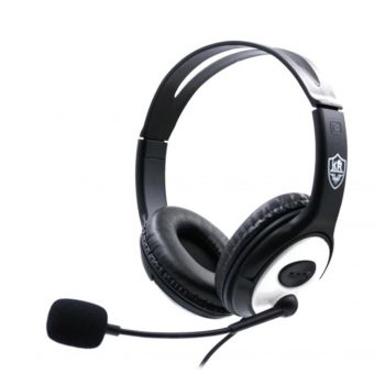Stereo Gaming Headset Over-Ear Lightweight Silver KR-GM706