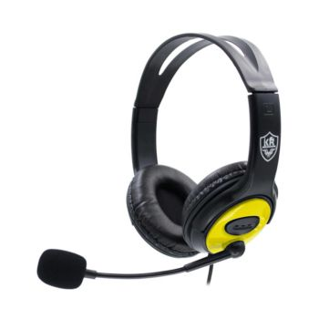 Stereo Gaming Headset Over-Ear Lightweight Yellow KR-GM704