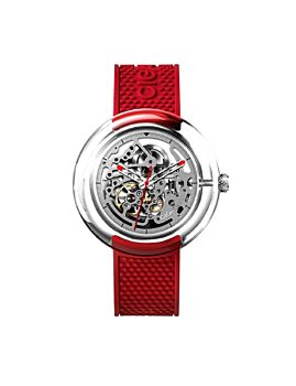 CIGA Design T Series Automatic Mechanical Skeleton Wristwatch Red (T011-TR90-5RE)