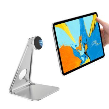 Tablet Stand 360 Rotation Metal L-shaped Magnetic Tablet holder Tabletand Bracket Universal Desktop Stand for iPad