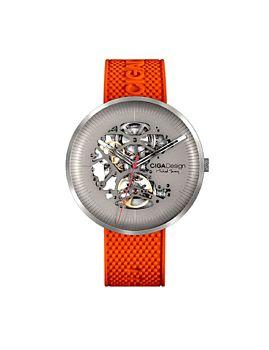 CIGA Design Titanium Edition Michael YoungSeries Automatic Mechanical Skeleton WristWatch Orange (M031-TITI-N15OG)