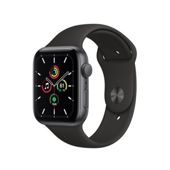 Apple Watch SE GPS, 40mm Space Gray Aluminium Case with Black Sport Band (MYDP2ZP/A)
