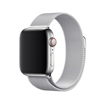 Coteetcl Magnet Watch Band For Apple Watch 38&40mm- Silver