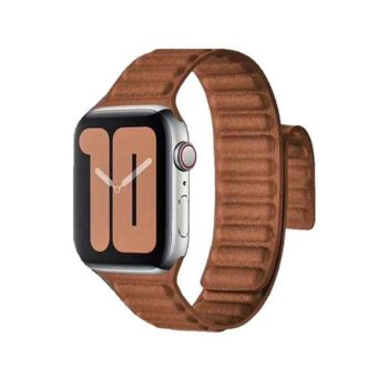 Coteetcl Dual Magnetic Watch Band For Apple Watch 38/40mm Brown