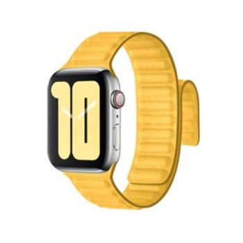 Coteetcl Dual Magnetic Watch Band For Apple Watch 42/44mm Lemon Yellow