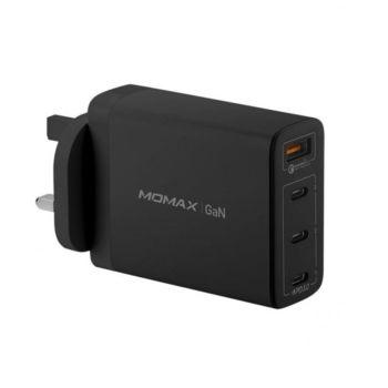 MOMAX One Plug 100W 4-Port GaN Charger - Black (UM22UKD)