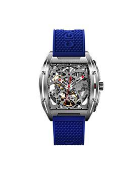 CIGA Design Z-Series 316L Stainless Steel Automatic Mechanical Skeleton Wristwatch Blue (Z031-SISI-15BU)