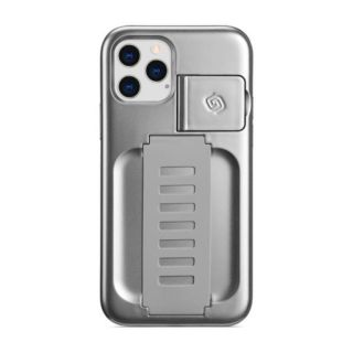 Grip2u Boost Case with Kickstand for iPhone 12 Pro Max (Metallic Silver)