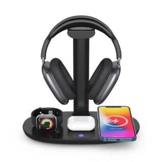 4 in 1 Wireless Charger with Headphone Stand (HC91B)