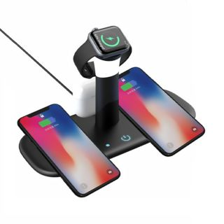 5 in 1 Fast Wireless Charging Stand with Night Lamp (15W ) (LCS-LH5)