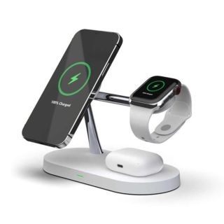 5 in 1 Magnetic Fast Wireless Charging Stand with Night Lamp (15W ) ( MF-WCH )