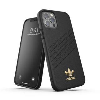 Adidas iPhone 12 - 12 Pro 3-Stripes Snap Leather Case - Black (42275)