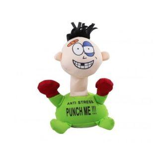 Punch Me Electric Anti Stress Plush Toy - Green