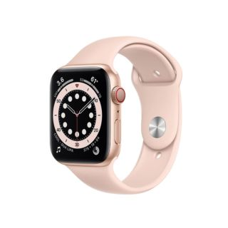 Apple Watch Series 6 GPS+Cellular 44mm Gold Aluminium Case with Pink Sand Sport Band (MG2D3)