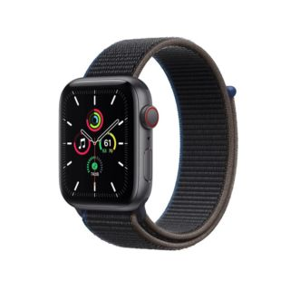 Apple Watch SE GPS+Cellular 40mm Space Gray Aluminum Case With Charcoal Sport (MYEL2)