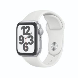 Apple Watch SE GPS 40mm Silver Aluminium Case with White Sport Band (MYDM2)