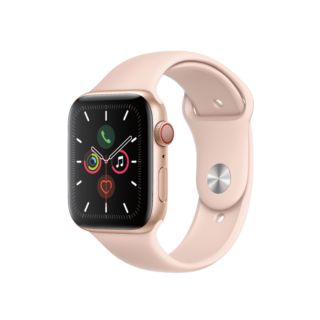 Apple Watch Series 6 GPS+Cellular 40mm Gold Aluminium Case with Pink Sand Sport Band (M02P3)