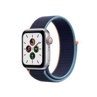 Apple Watch SE GPS+Cellular 40mm Silver Aluminium Case with Deep Navy Sport Loop (MYEG2)