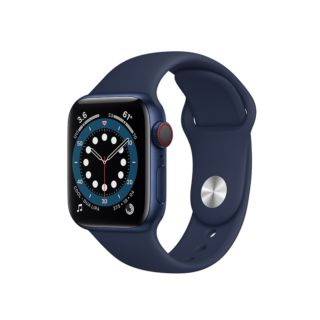 Apple Watch Series 6 GPS+Cellular 40mm Blue Aluminium Case with Deep Navy Sport Band (M06Q3)