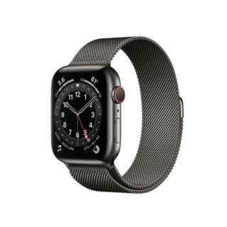 Apple Watch Series 6 GPS+Cellular 40mm Graphite Stainless Steel Case with Graphite Milanese Loop (M06Y3)