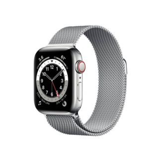 Apple Watch Series 6 GPS+Cellular 40mm Silver Stainless Steel Case with Silver Milanese Loop (M06U3)