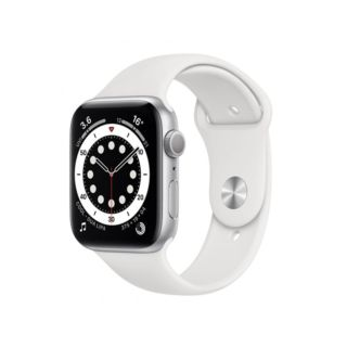 Apple Watch Series 6 GPS 44mm Silver Aluminium Case with White Sport Band (M00D3)
